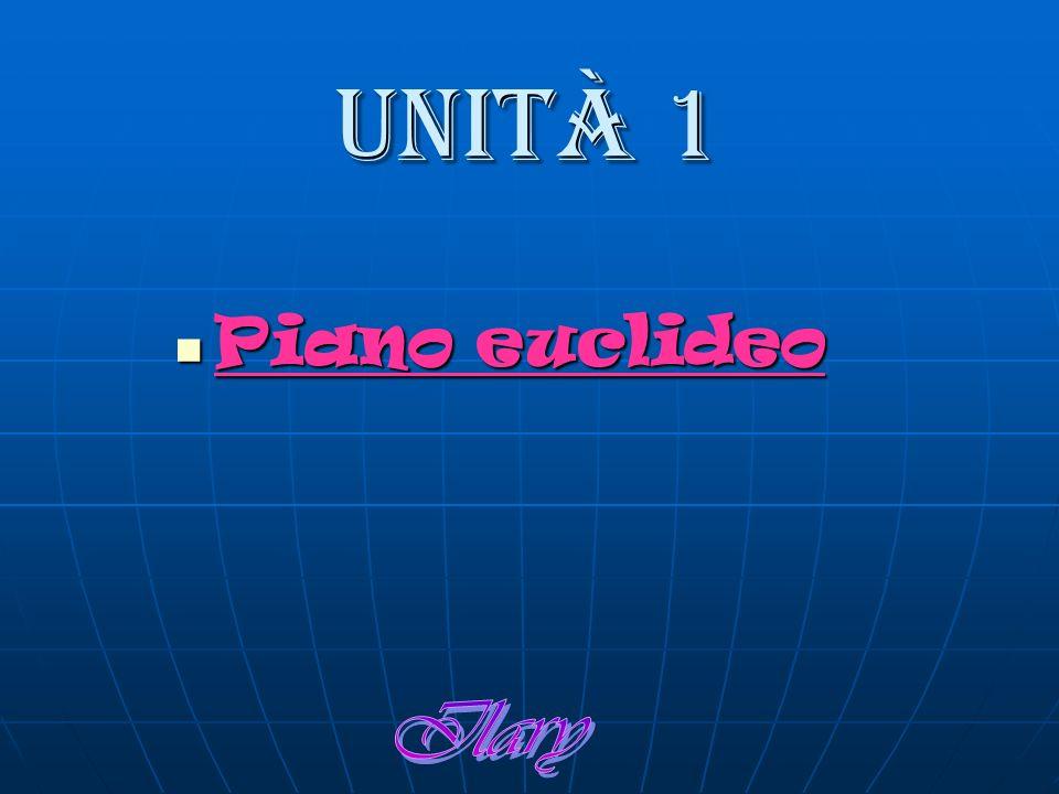 Unità 1 Piano euclideo