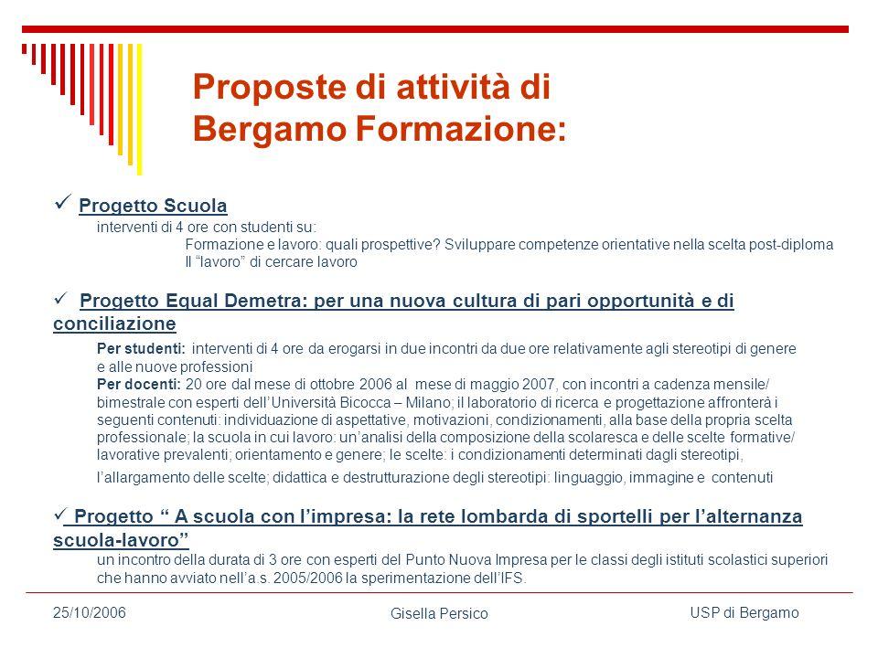 Proposte di attività di Bergamo Formazione: