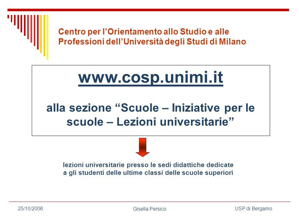 Centro per l'Orientamento allo Studio e alle Professioni dell'Università degli Studi di Milano