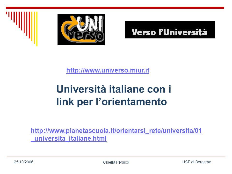 Università italiane con i link per l'orientamento