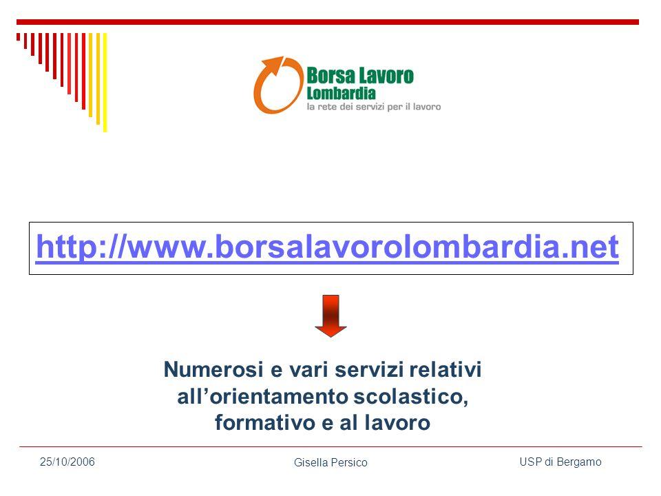 http://www.borsalavorolombardia.net Numerosi e vari servizi relativi all'orientamento scolastico, formativo e al lavoro.