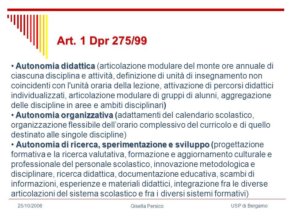 Art. 1 Dpr 275/99