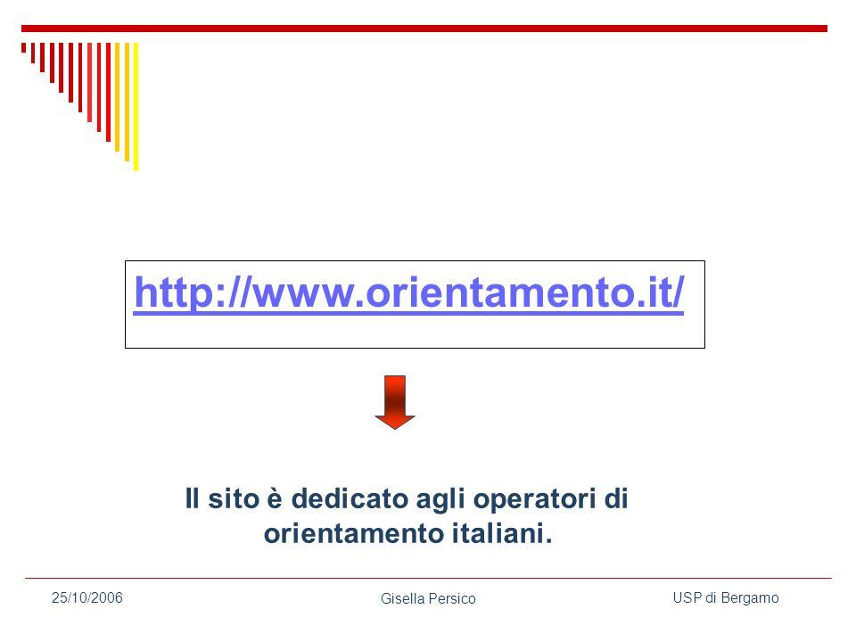 Il sito è dedicato agli operatori di orientamento italiani.
