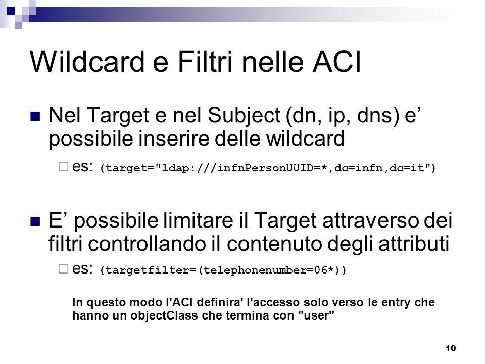 Wildcard e Filtri nelle ACI
