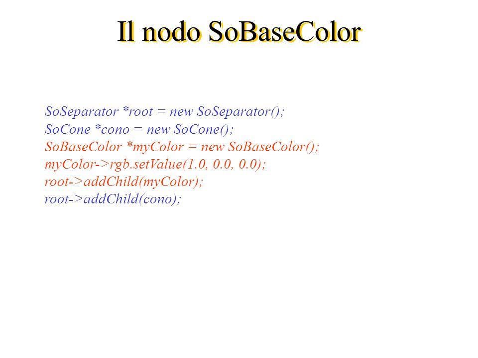 Il nodo SoBaseColor