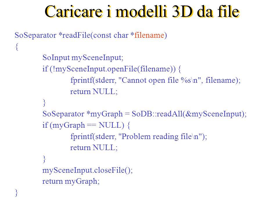 Caricare i modelli 3D da file