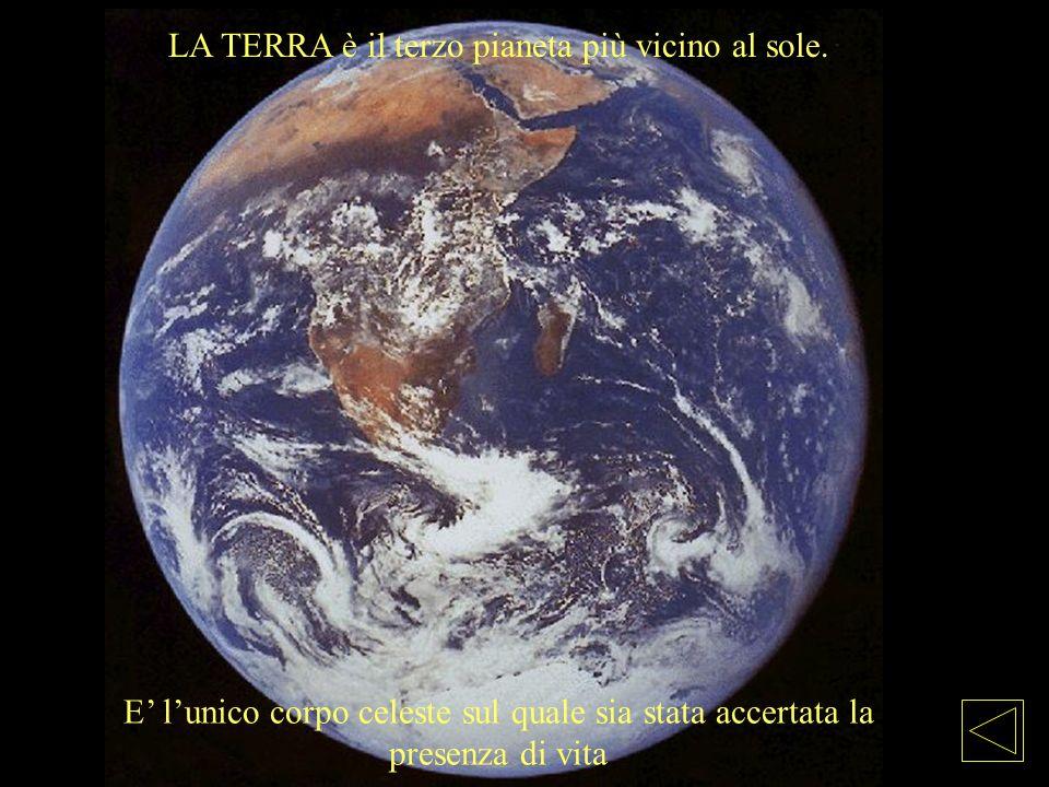 LA TERRA è il terzo pianeta più vicino al sole.