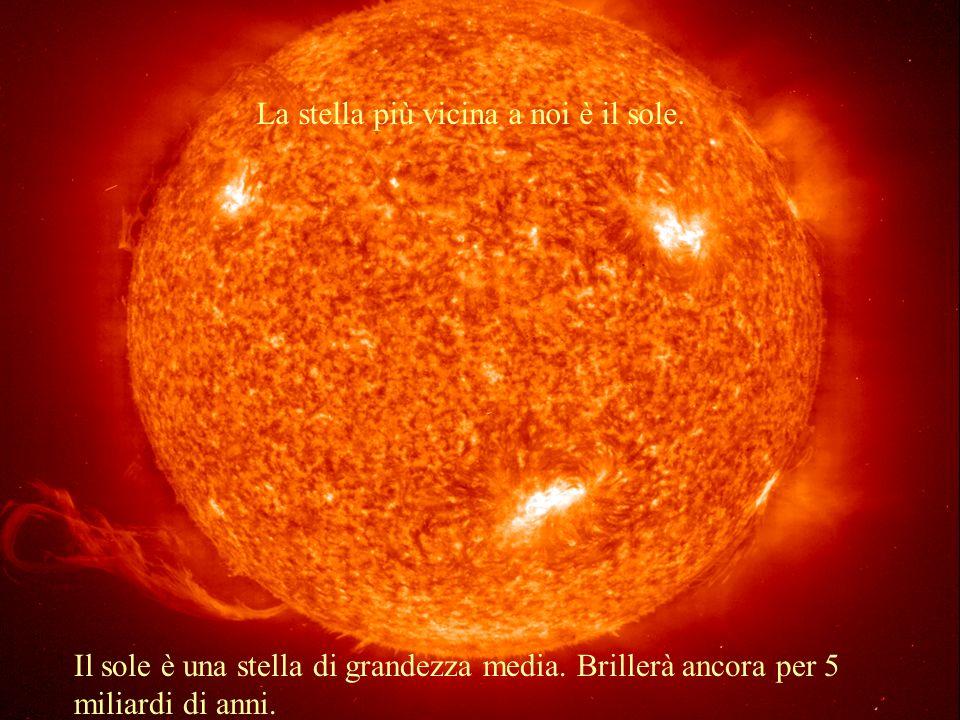 La stella più vicina a noi è il sole.