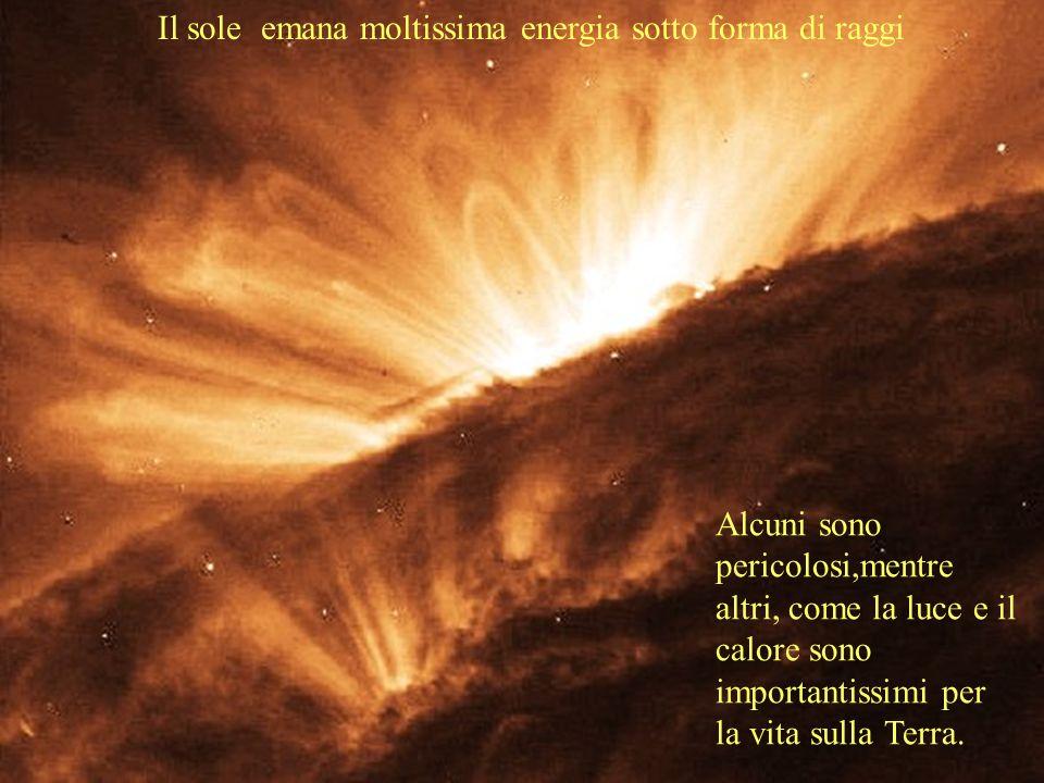 Il sole emana moltissima energia sotto forma di raggi