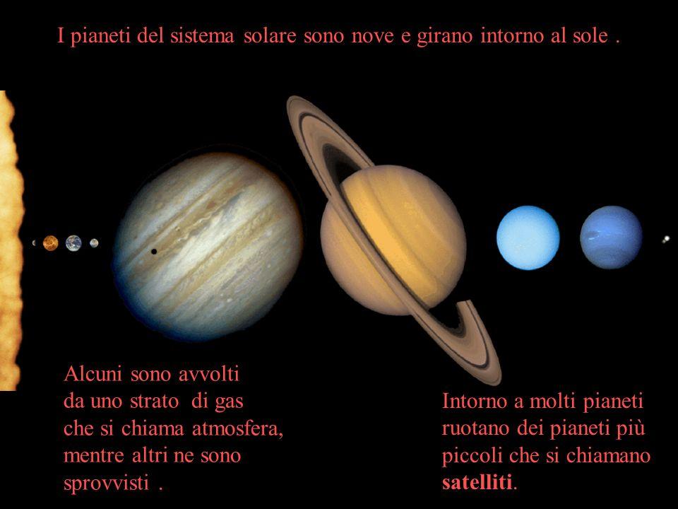 I pianeti del sistema solare sono nove e girano intorno al sole .