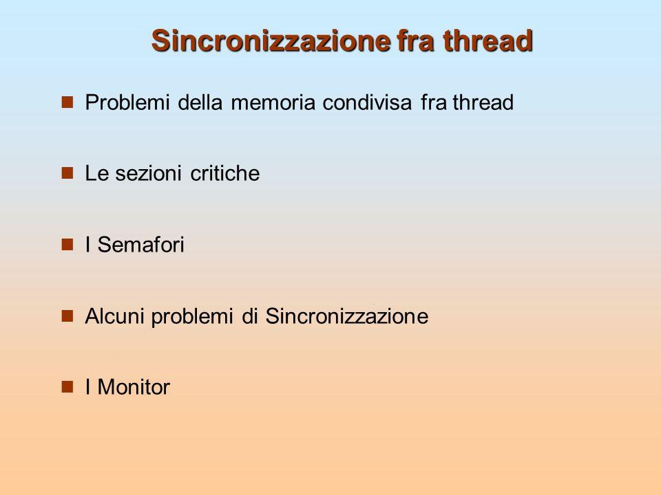 Sincronizzazione fra thread