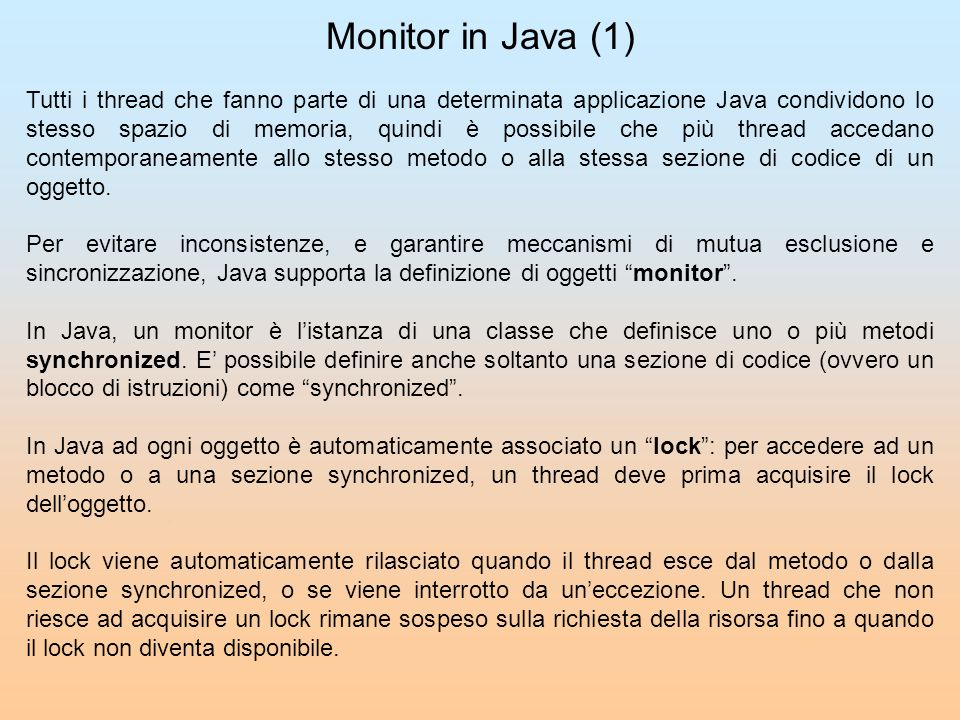 Monitor in Java (1)