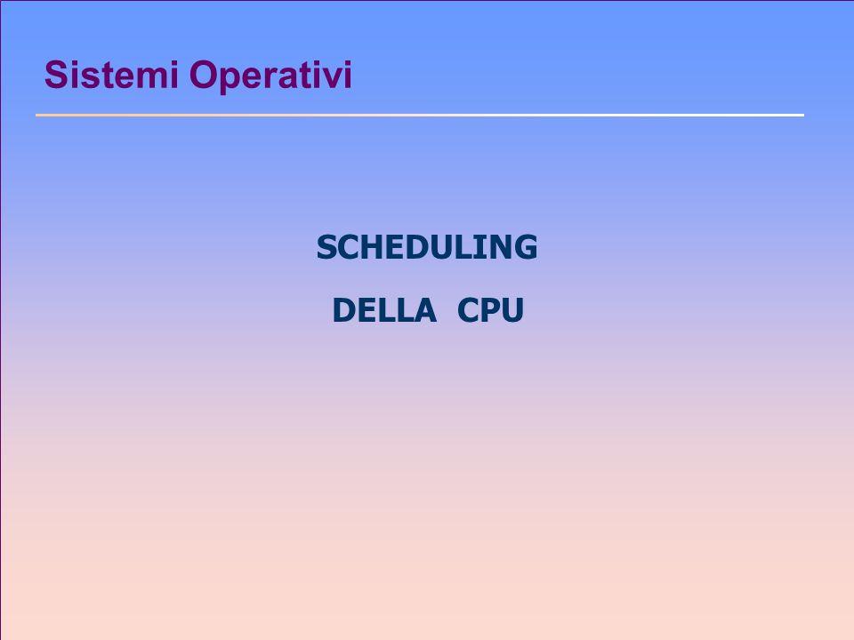 Sistemi Operativi SCHEDULING DELLA CPU