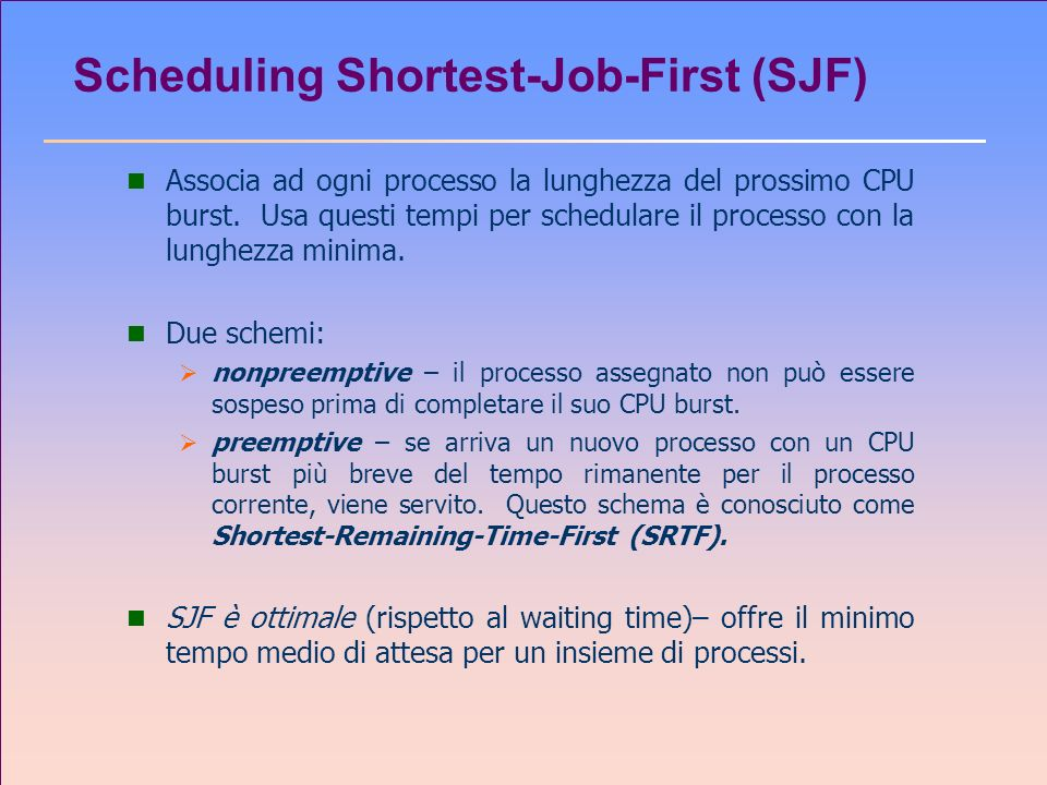 Scheduling Shortest-Job-First (SJF)