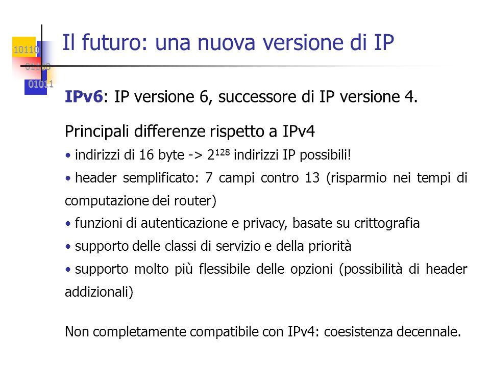 Il futuro: una nuova versione di IP