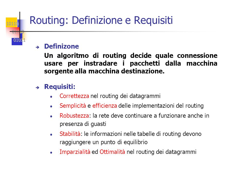 Routing: Definizione e Requisiti
