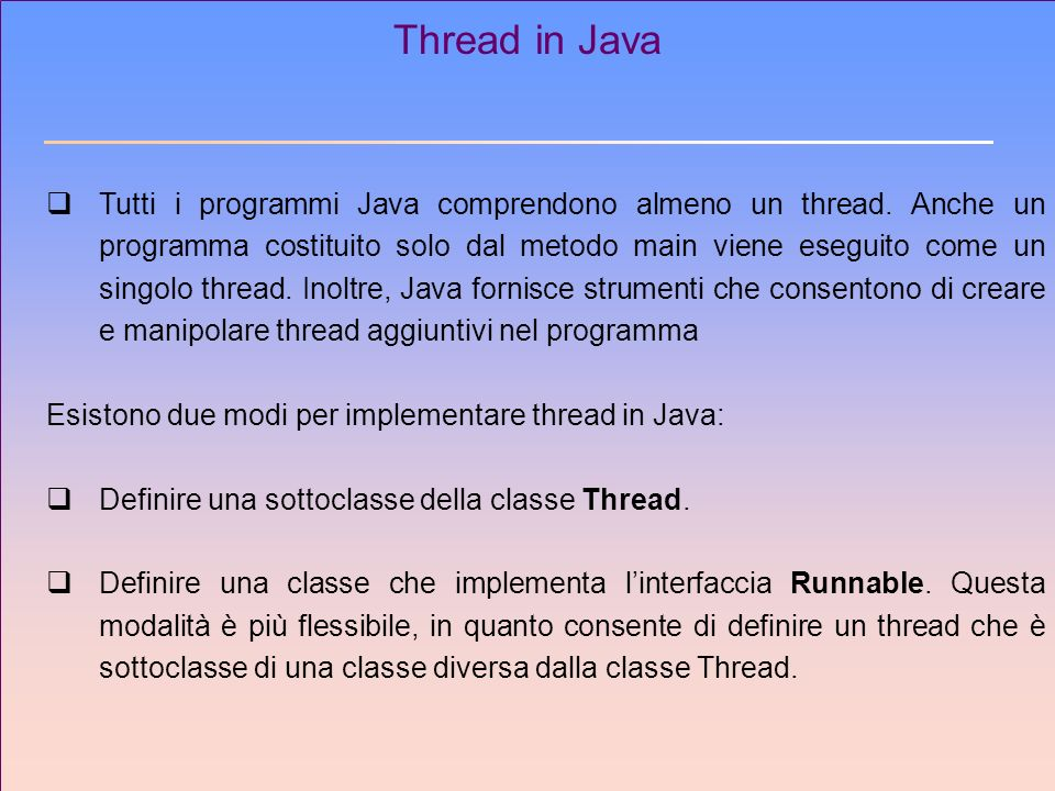 Thread in Java