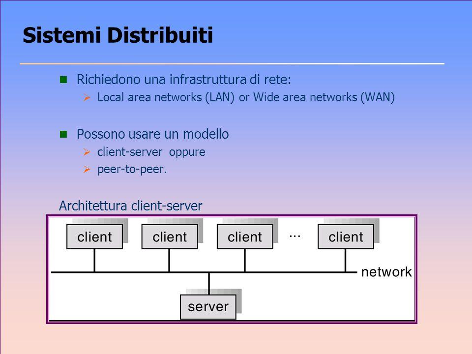 Sistemi Distribuiti Richiedono una infrastruttura di rete: