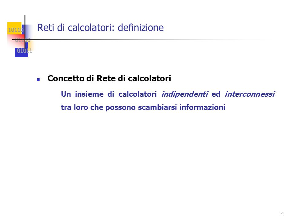 Reti di calcolatori: definizione