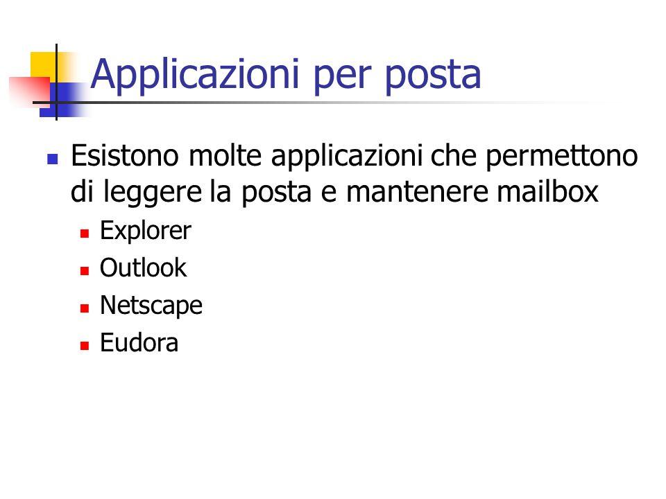 Applicazioni per posta