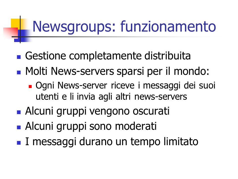 Newsgroups: funzionamento