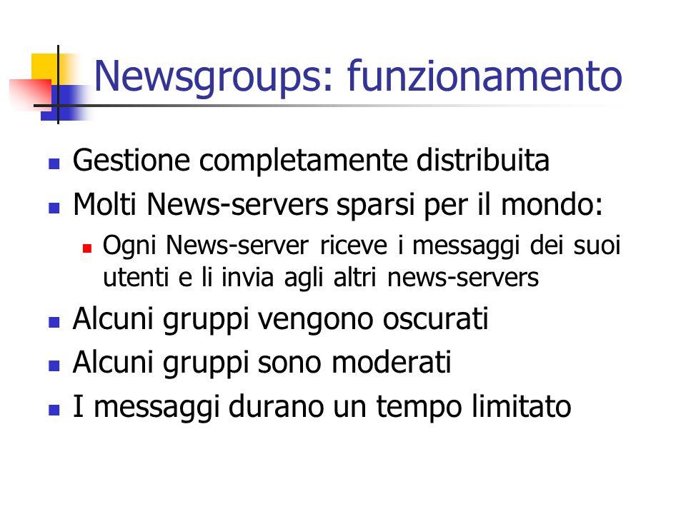 Newsgroups: funzionamento