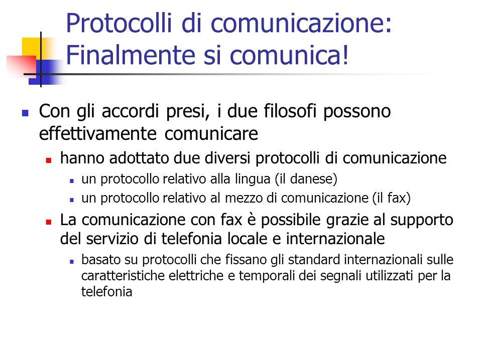Protocolli di comunicazione: Finalmente si comunica!