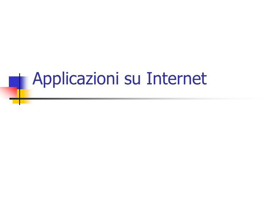 Applicazioni su Internet