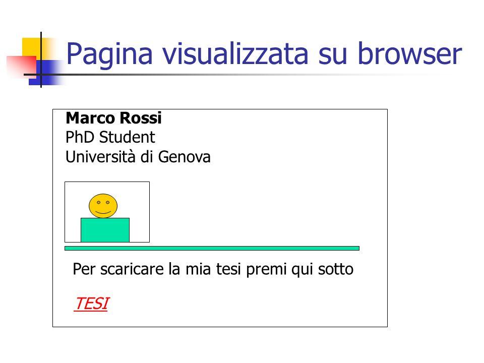 Pagina visualizzata su browser