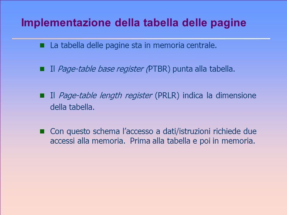 Implementazione della tabella delle pagine