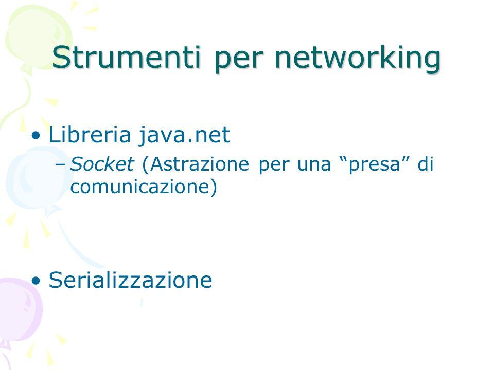 Strumenti per networking