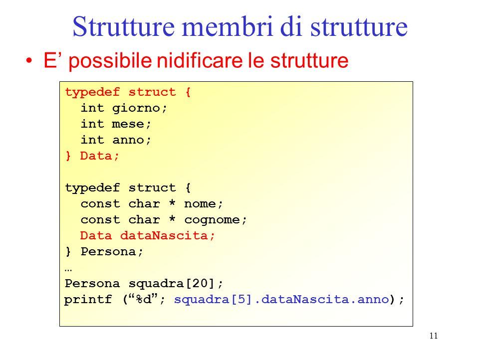 Strutture membri di strutture