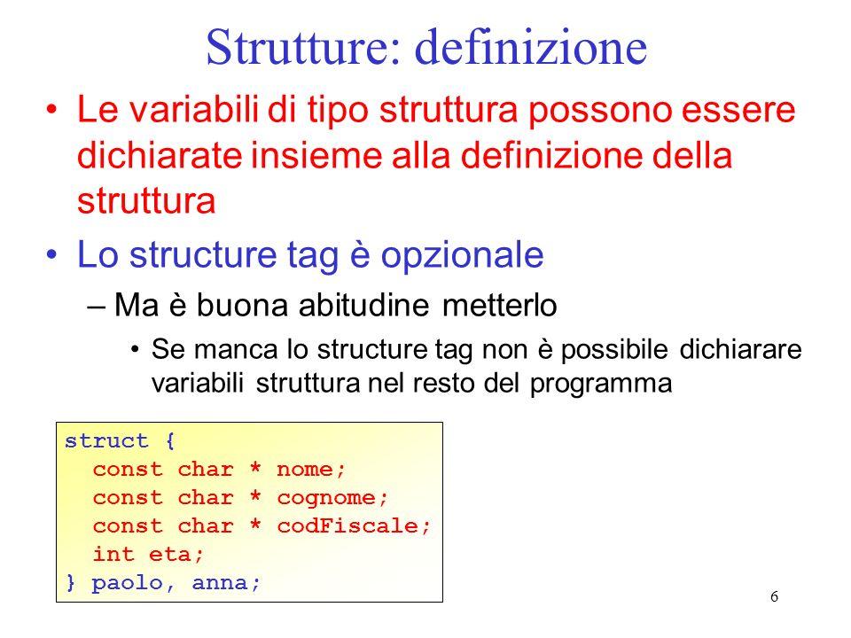 Strutture: definizione