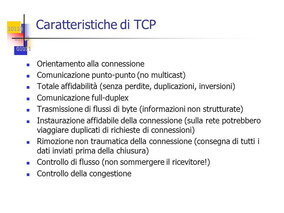 Caratteristiche di TCP