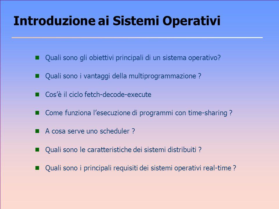 Introduzione ai Sistemi Operativi