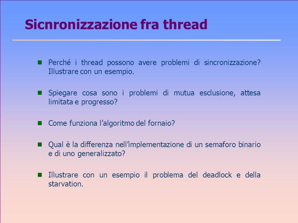 Sicnronizzazione fra thread