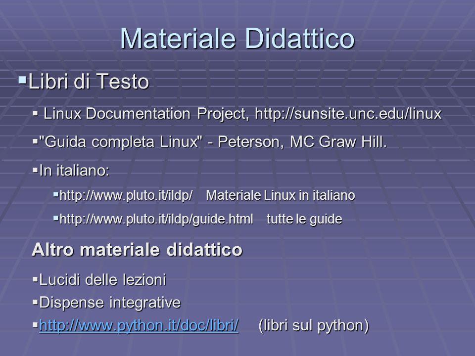 Materiale Didattico Libri di Testo Altro materiale didattico