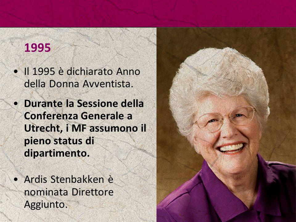 1995 Il 1995 è dichiarato Anno della Donna Avventista.