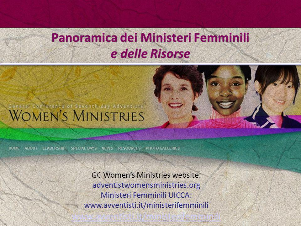 Panoramica dei Ministeri Femminili e delle Risorse