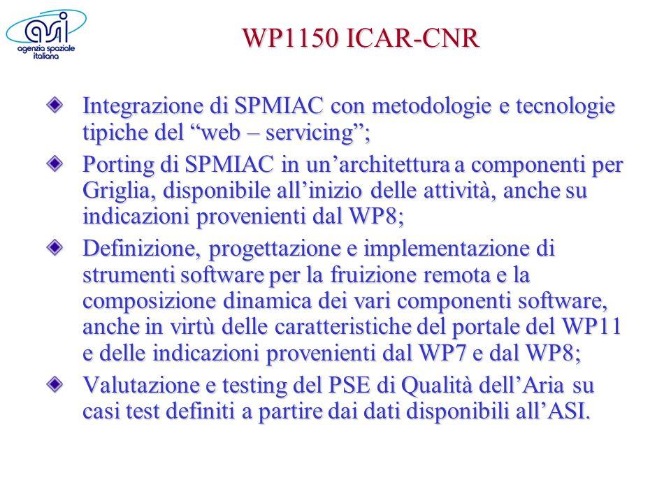 WP1150 ICAR-CNR Integrazione di SPMIAC con metodologie e tecnologie tipiche del web – servicing ;