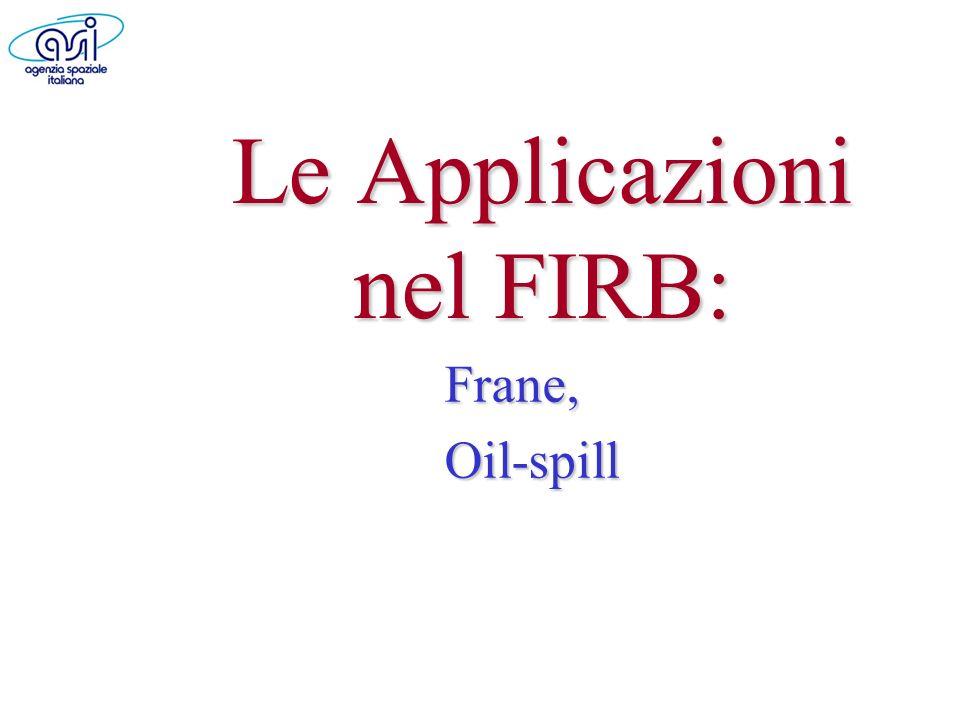 Le Applicazioni nel FIRB: