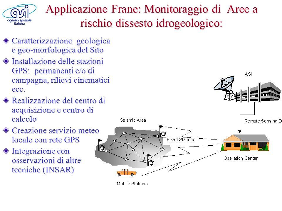 Applicazione Frane: Monitoraggio di Aree a rischio dissesto idrogeologico:
