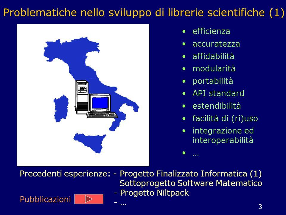 Problematiche nello sviluppo di librerie scientifiche (1)