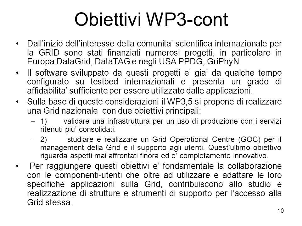 Obiettivi WP3-cont