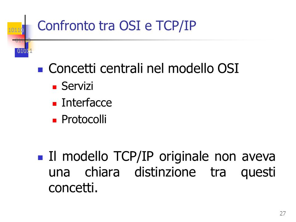 Confronto tra OSI e TCP/IP