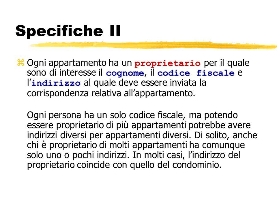 Specifiche II
