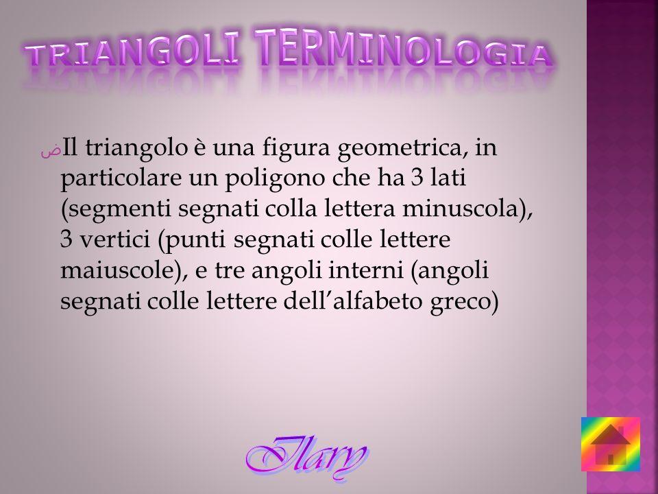 TRIANGOLI TERMINOLOGIA