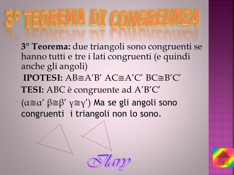 3° TEOREMA DI CONGREUNZA
