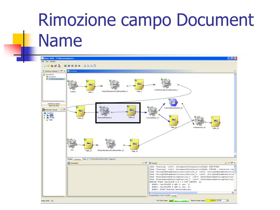 Rimozione campo Document Name