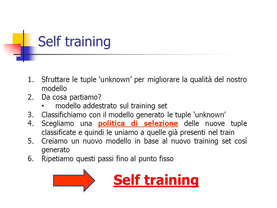 Self training Self training